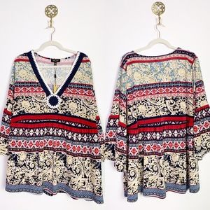 NWT Melissa Page Tunic Crochet Deets 3X